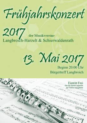 Weiterlesen: 6. Frühjahrskonzert der Musikvereine Langbroich-Harzelt und Schierwaldenrath